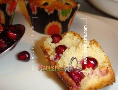 کاپ کیک انار و سیب