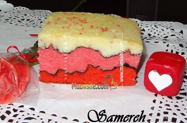 کیک موج عشق