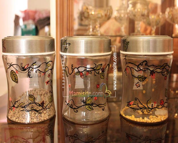 شیشه حبوبات تزیینی