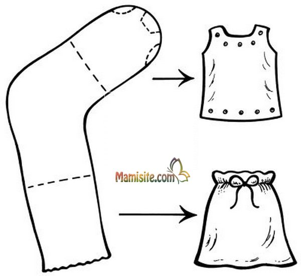 Сшить одежду для кукол своими руками без машинки