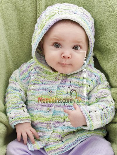 Knitting Pattern For Baby Cardigan With Hood And Ears : ???? ????? ??????,???? ?????? ?????