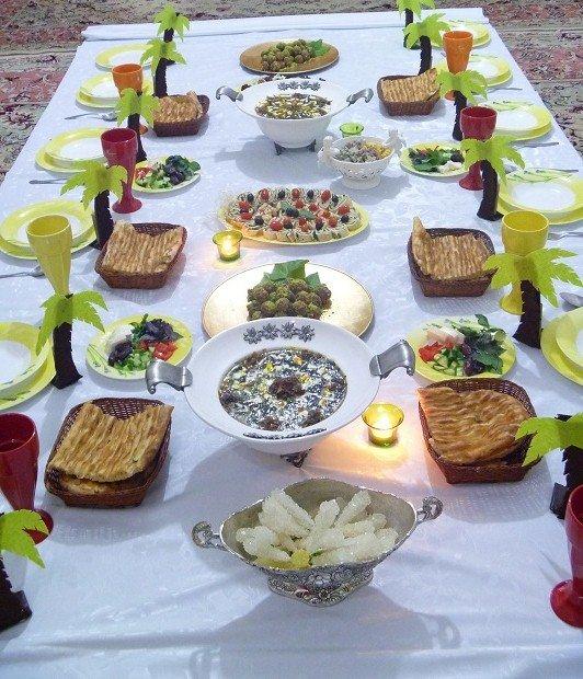 مدل تزیین پنیر و خرما سفره افطار - مدل تزیین سبزی سفره افطار | یک ...
