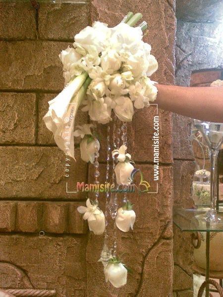 عکس+دسته+گل+کریستال+عروس